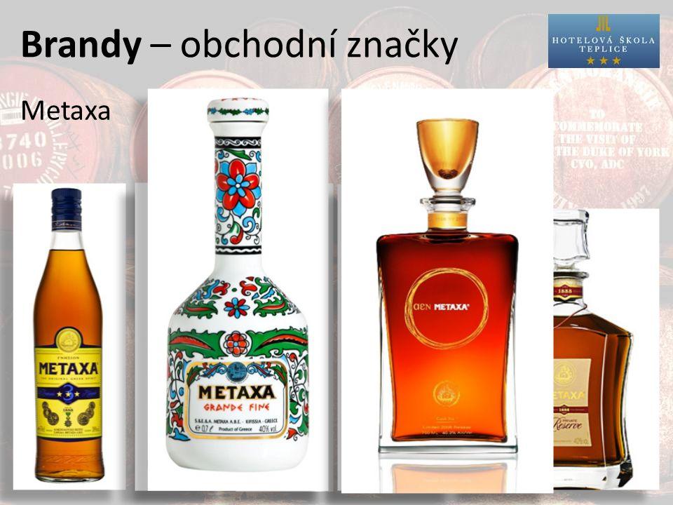 Brandy – obchodní značky Metaxa