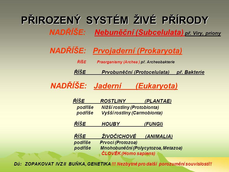 """ČLOVĚK – MNOHOBUNĚČNÝ ORGANISMUS v biologickém systému živé přírody TAXONOMIE (""""systematika"""") ORGANISMŮ (TŘÍDĚNÍ = KLASIFIKACE) SOUSTAVA – SYSTÉM: HIE"""