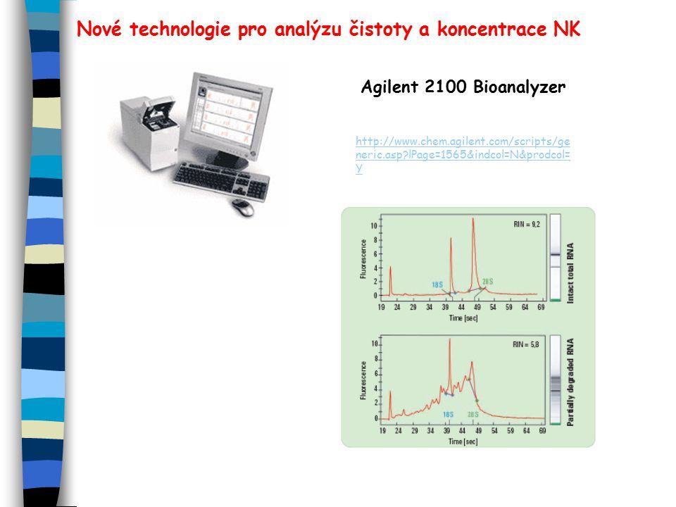 Nové technologie pro analýzu čistoty a koncentrace NK Agilent 2100 Bioanalyzer http://www.chem.agilent.com/scripts/ge neric.asp?lPage=1565&indcol=N&prodcol= Y