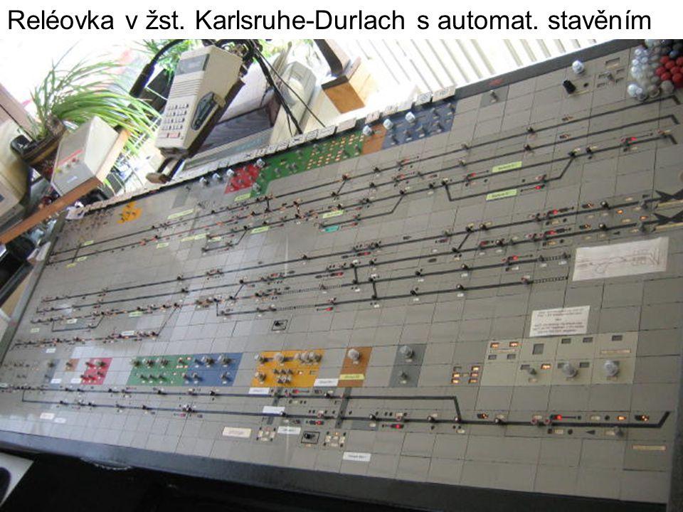 Reléovka v žst. Karlsruhe-Durlach s automat. stavěním