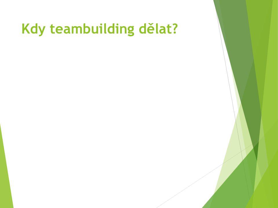 Kdy teambuilding dělat?