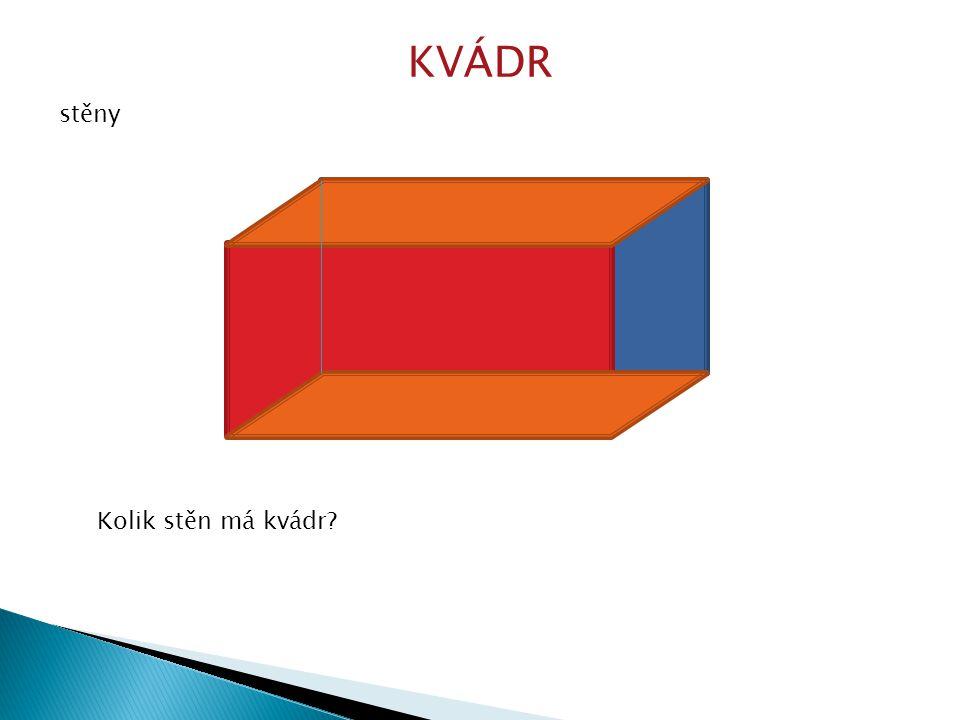 Takto vypadá kvádr po rozložení.Proč jsou vždy dva obdélníky narýsovány stejnou barvou.