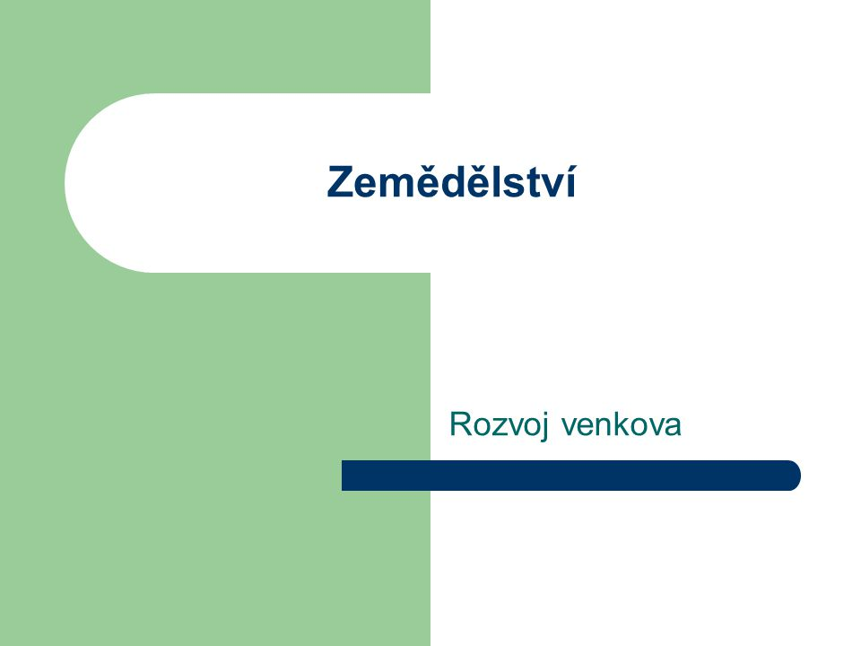 Ekologické zemědělství ČR – 8 % z celkové výměry zemědělského půdního fondu EU – průměr 4 % Největší nárůst ekologického zemědělství v ČR období 1997 až 2003