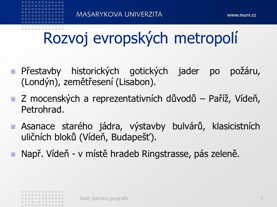 PedF, katedra geografie27 Města po 2.sv.
