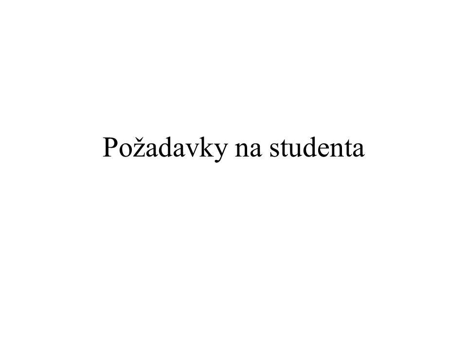 Požadavky na studenta