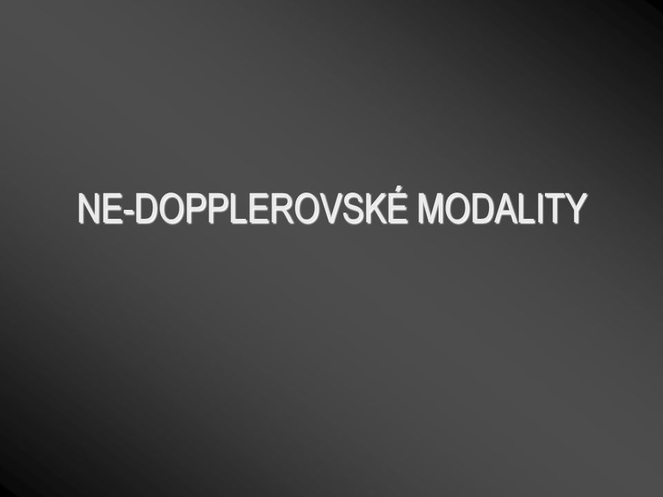 NE-DOPPLEROVSKÉ MODALITY
