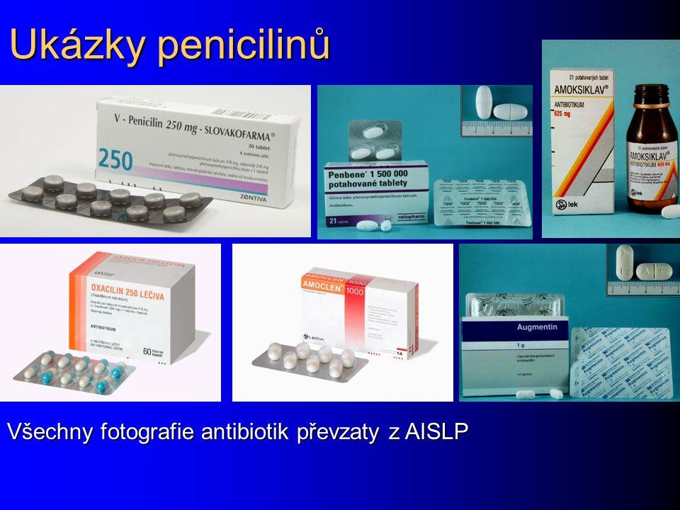 Ukázky penicilinů Všechny fotografie antibiotik převzaty z AISLP