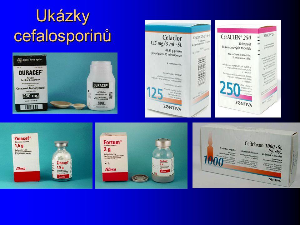 Ukázky cefalosporinů