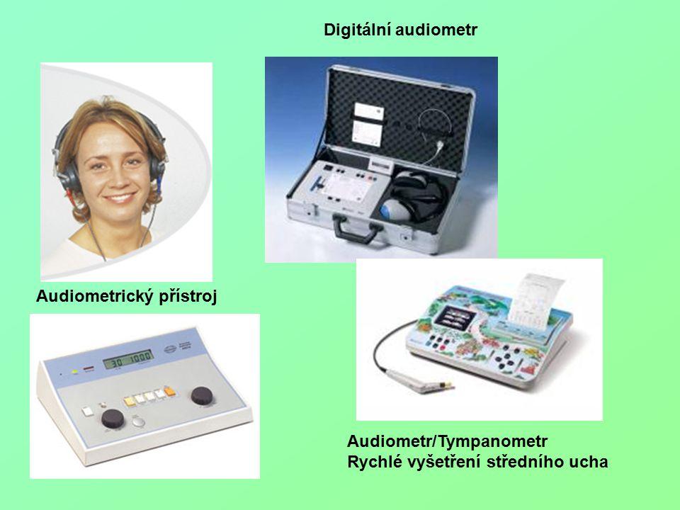 Audiometrický přístroj Digitální audiometr Audiometr/Tympanometr Rychlé vyšetření středního ucha
