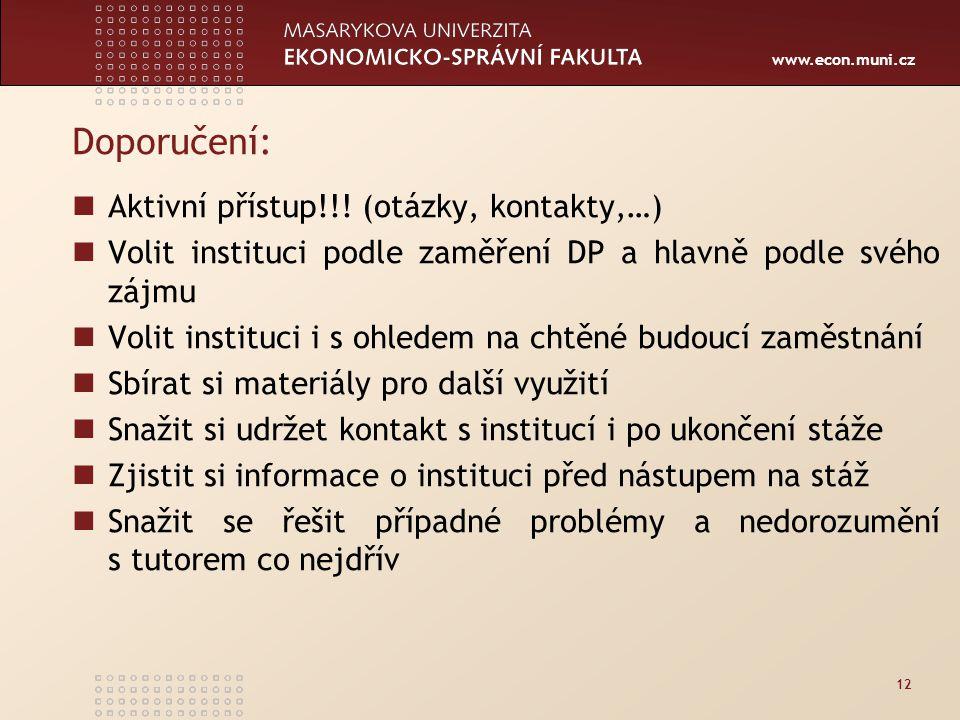 www.econ.muni.cz Doporučení: Aktivní přístup!!.