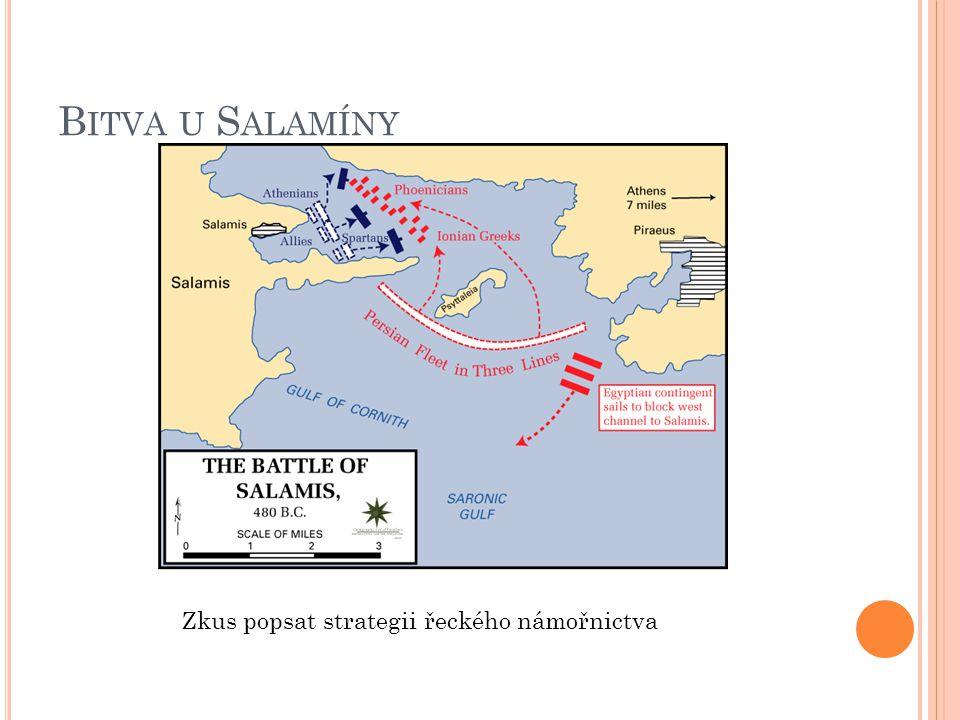 B ITVA U S ALAMÍNY Zkus popsat strategii řeckého námořnictva