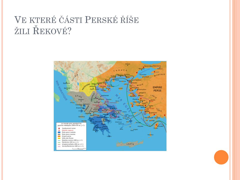 K ALLIUV MÍR 449 BC  válka porážkami Peršanů zcela neskončila boje však probíhaly s menší intenzitou a daleko od sebe 449 p.K.