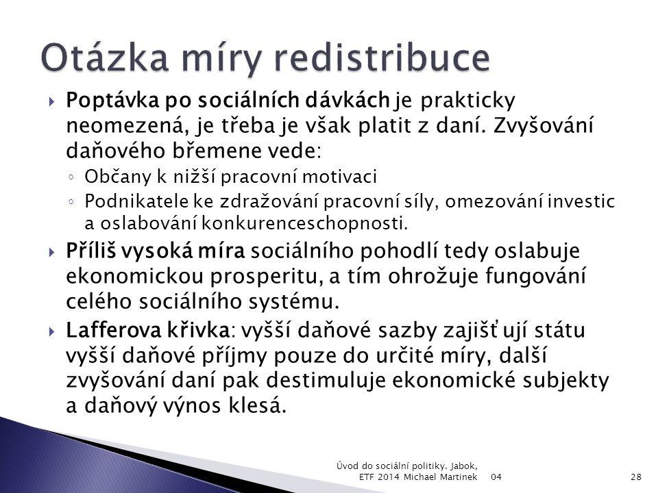 04 Úvod do sociální politiky. Jabok, ETF 2014 Michael Martinek29