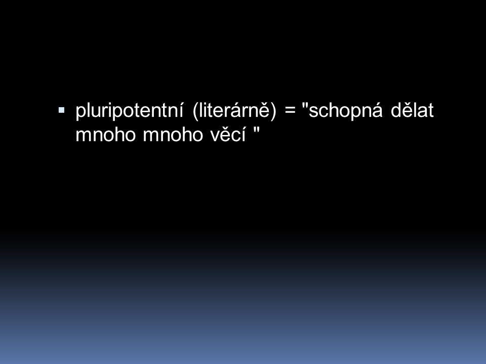  pluripotentní (literárně) =