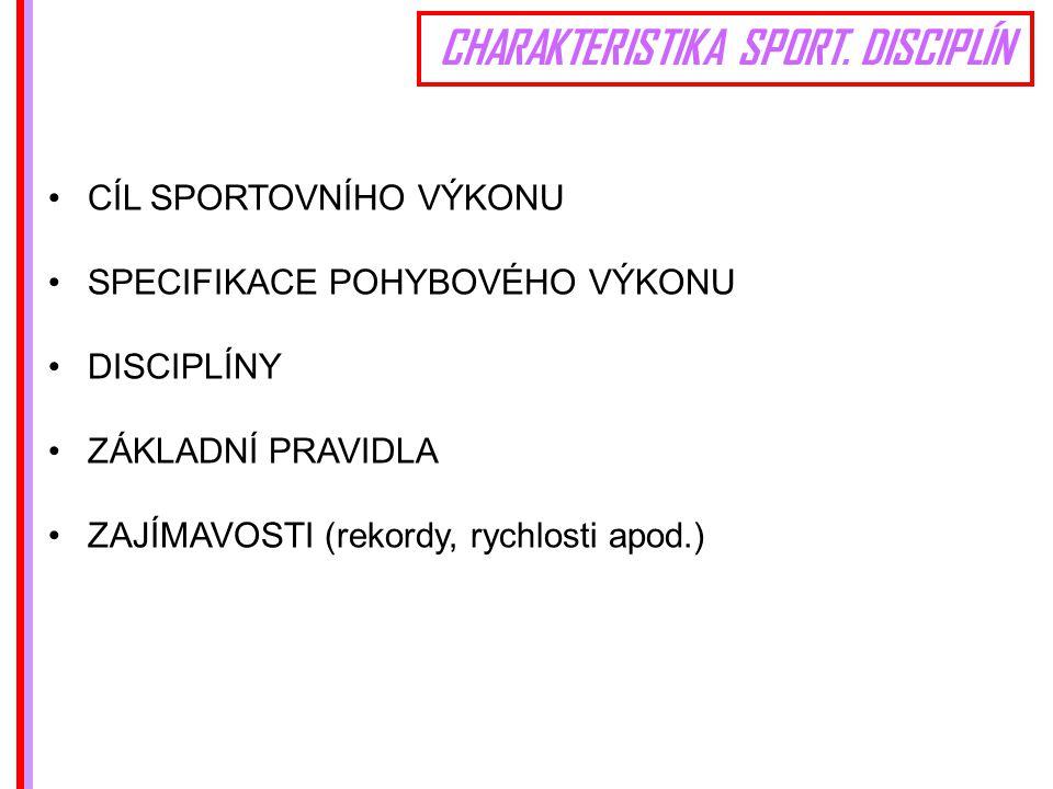CHARAKTERISTIKA SPORT.