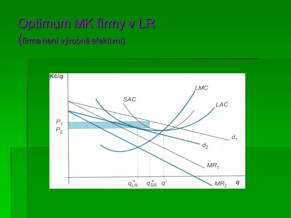 Optimum MK firmy v LR ( firma není výrobně efektivní)