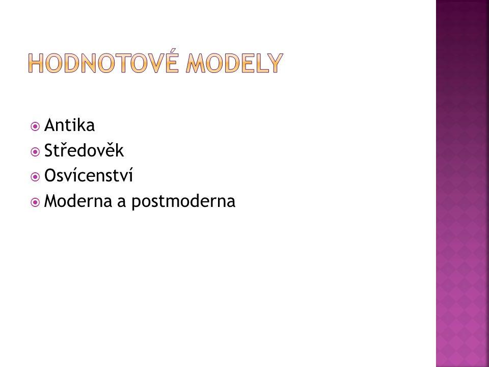  Antika  Středověk  Osvícenství  Moderna a postmoderna
