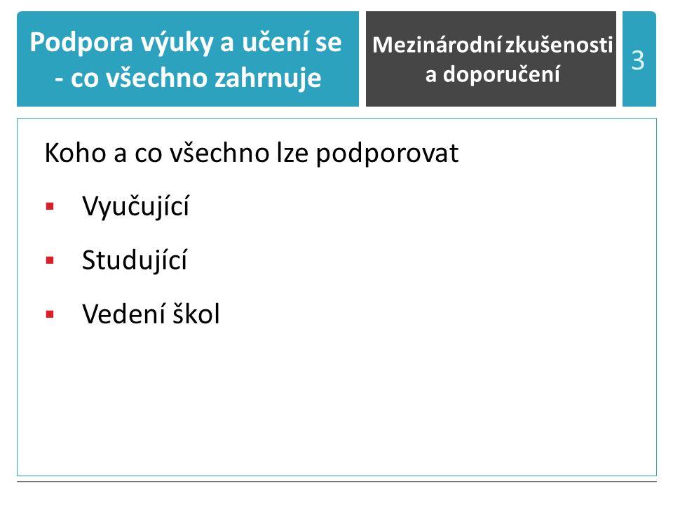 Evropská doporučení pro podporu výuky a učení VII.