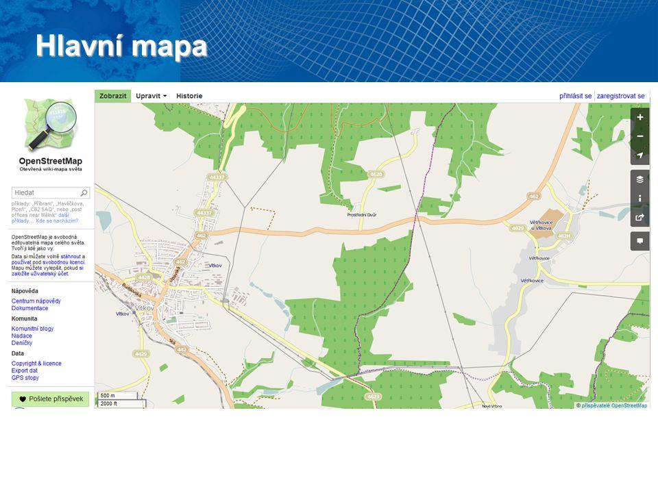 Hlavní mapa