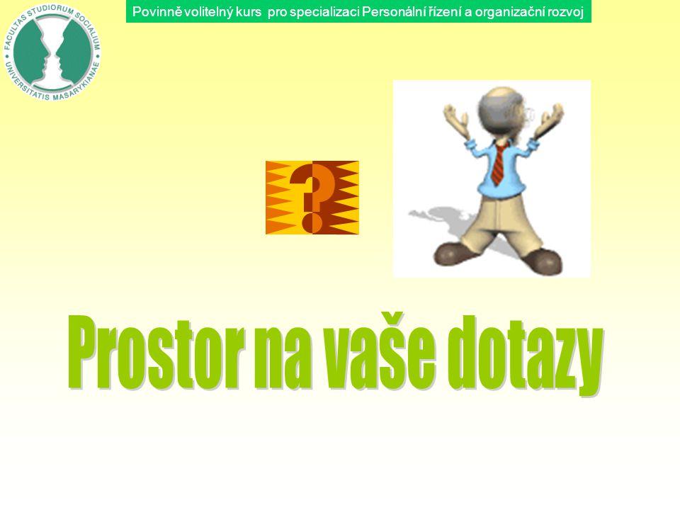 Povinně volitelný kurs pro specializaci Personální řízení a organizační rozvoj
