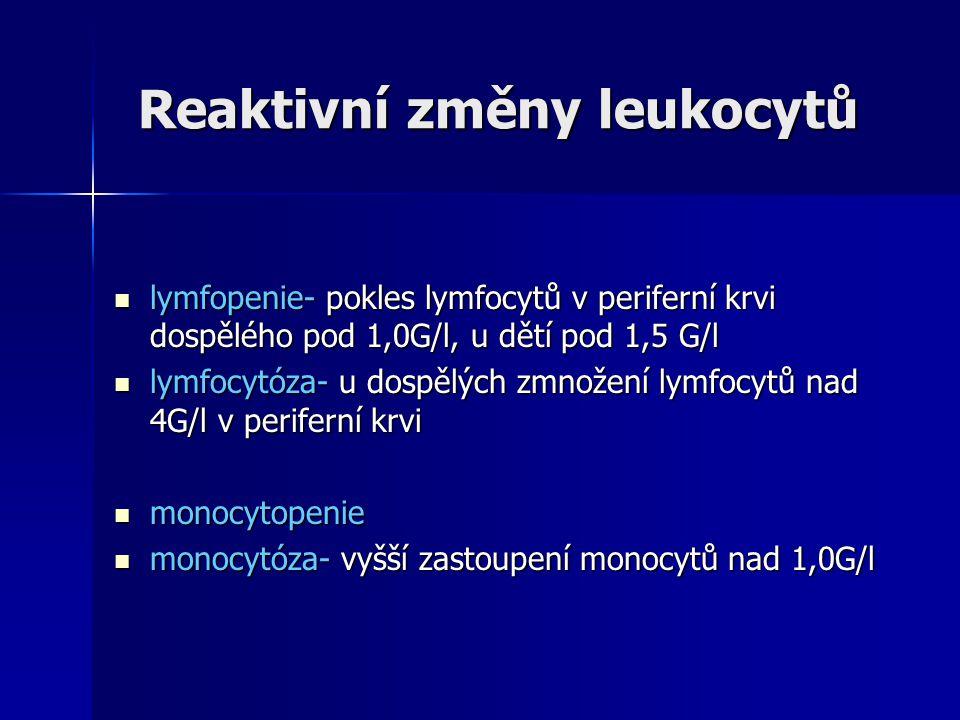 Neutropenie,agranulocytóza Vrozená neutropenie Vrozená neutropenie - defekt na úrovni kmenové buňky - defekt na úrovni kmenové buňky krvetvorby (cyklická neutropenie) krvetvorby (cyklická neutropenie) - patologická granulopoeza char.