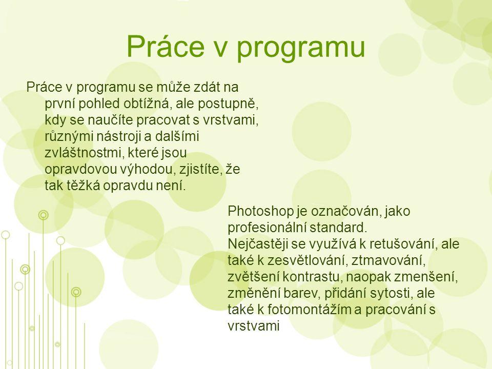 Úpravy v programu