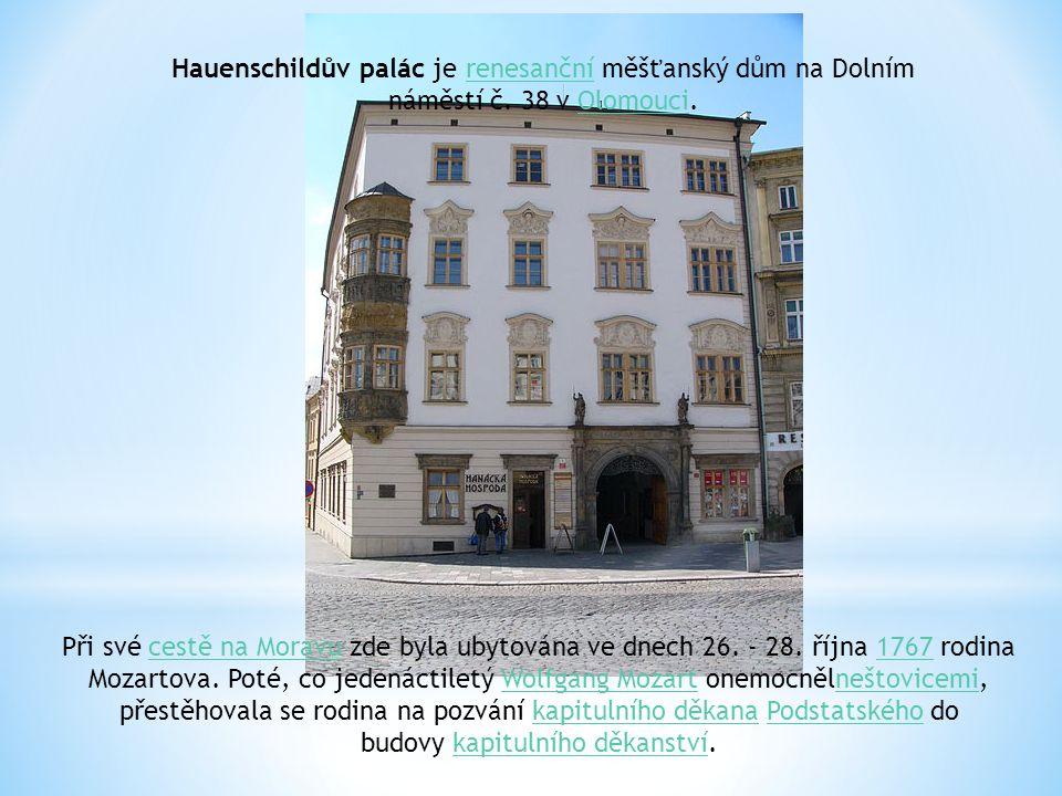 Při své cestě na Moravu zde byla ubytována ve dnech 26.