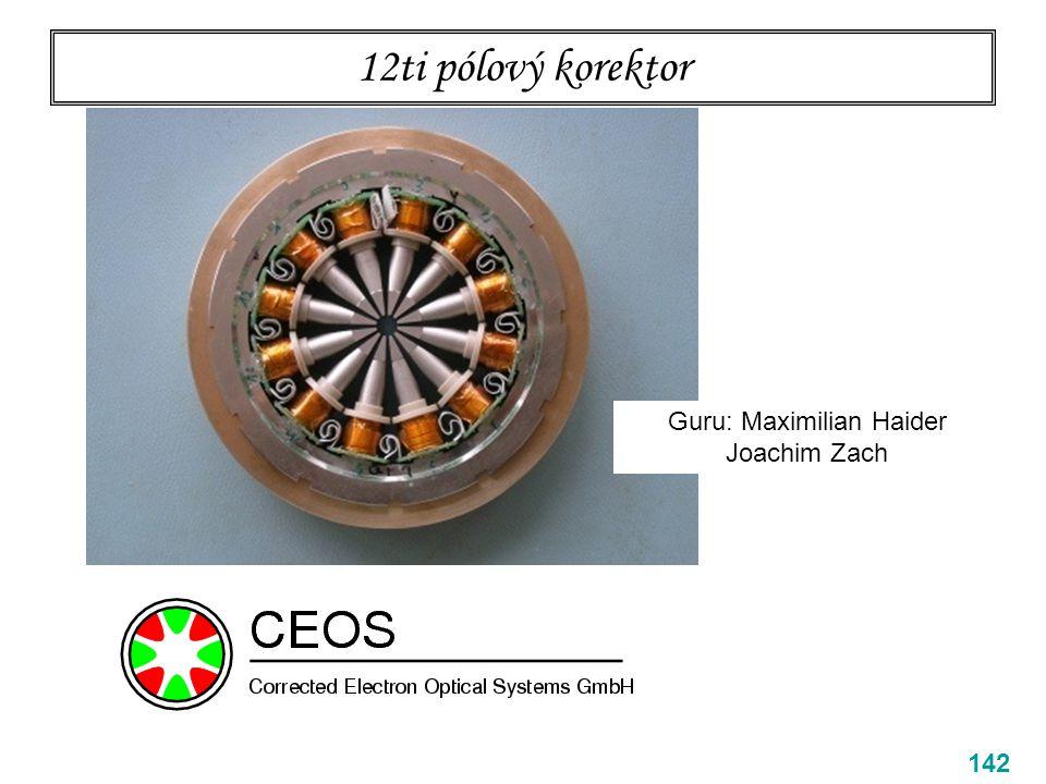 12ti pólový korektor 142 Guru: Maximilian Haider Joachim Zach