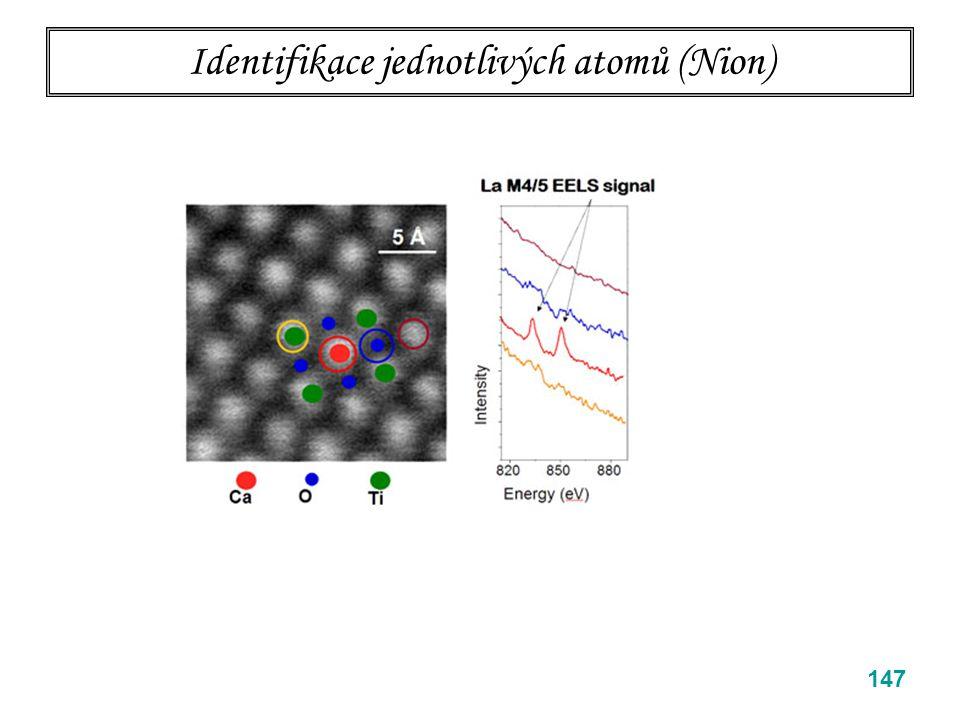 Identifikace jednotlivých atomů (Nion) 147