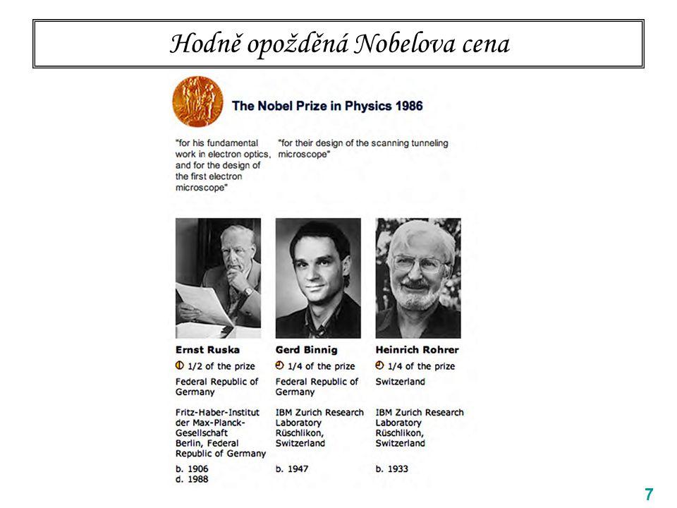 Hodně opožděná Nobelova cena 7
