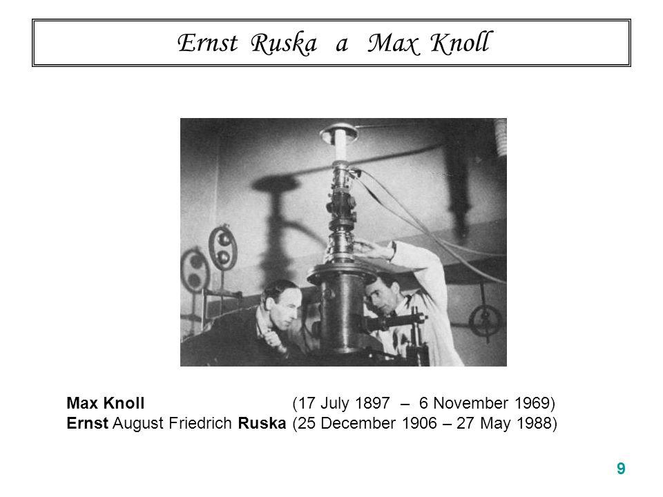 Ernst Ruska (NP 1986) uvádí historii na pravou míru Z nobelovské přednášky ….