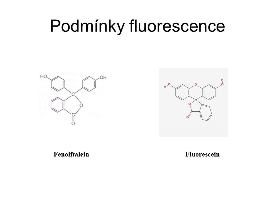 Podmínky fluorescence FenolftaleinFluorescein
