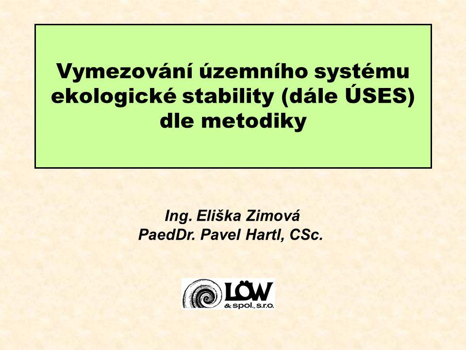 Vymezování územního systému ekologické stability (dále ÚSES) dle metodiky Ing. Eliška Zimová PaedDr. Pavel Hartl, CSc.