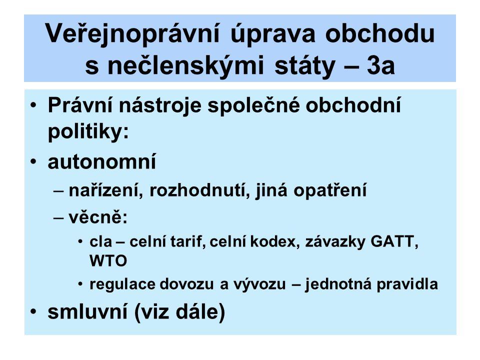 Veřejnoprávní úprava obchodu s nečlenskými státy - 4 Uzavírání mezinárodních dohod: čl.