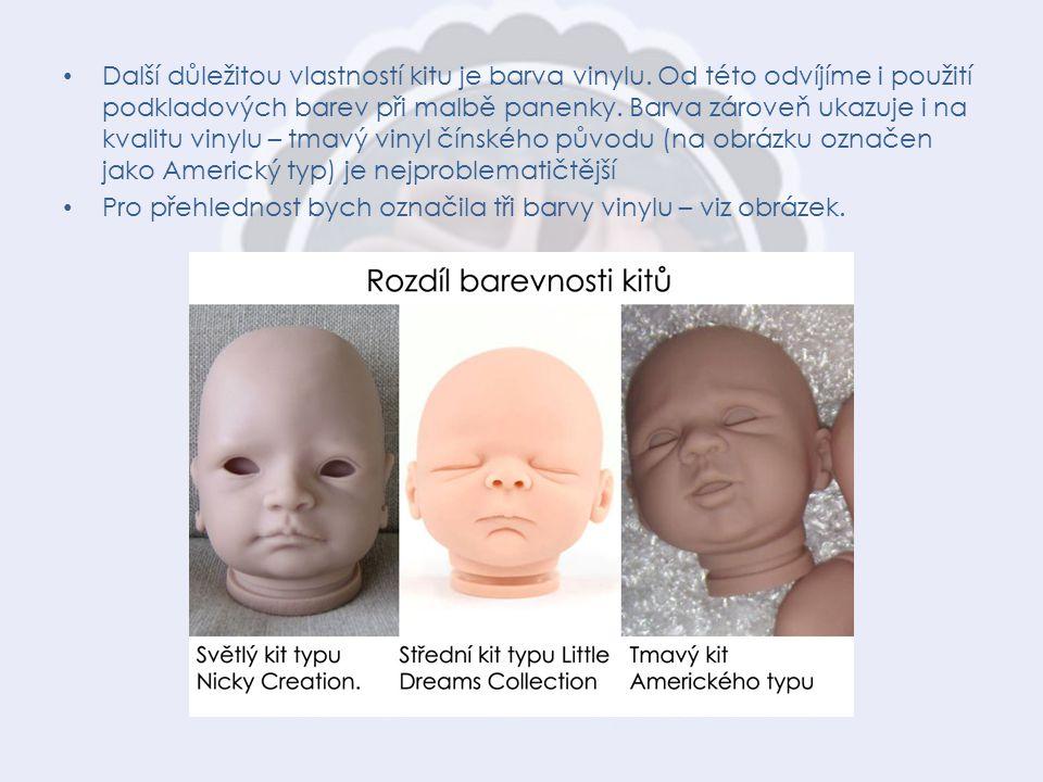 """Pro výrobu kitů Moravian Babies je použitý kvalitní Německý vinyl """"středního zbarvení ."""