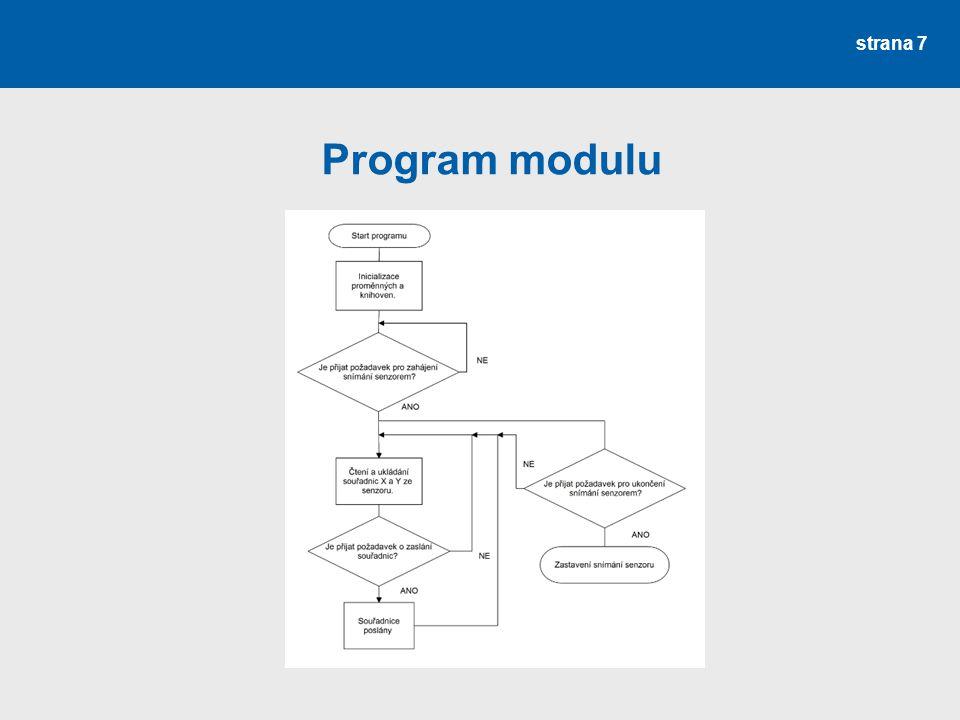 strana 7 Program modulu