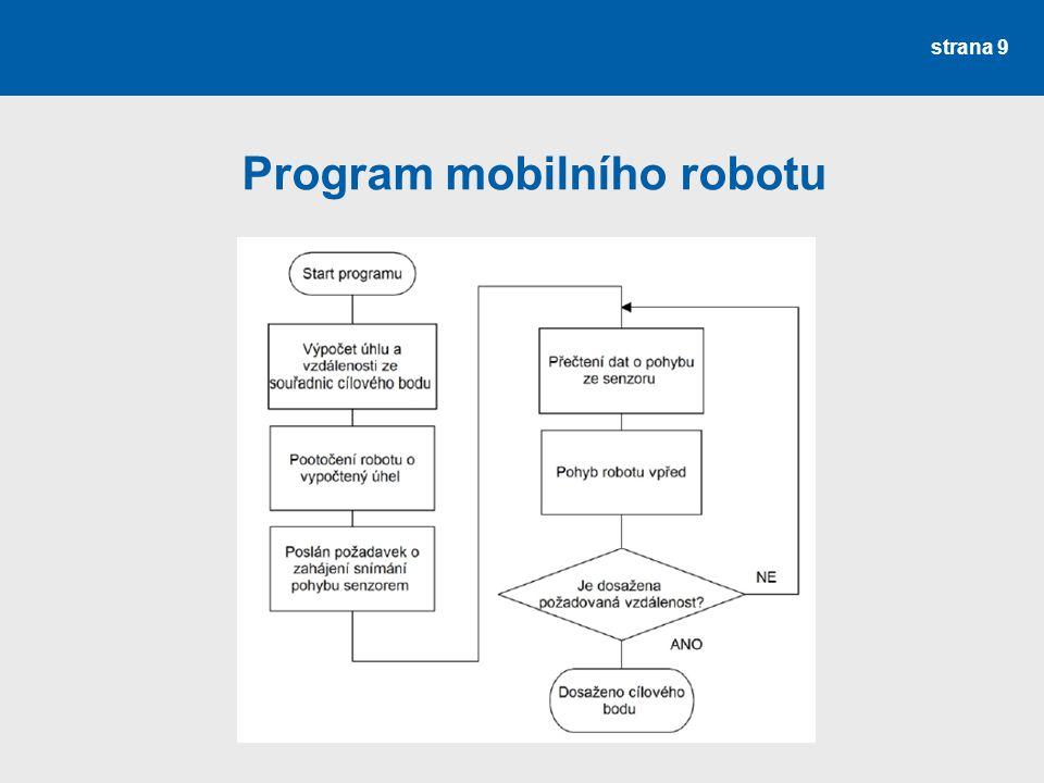 strana 9 Program mobilního robotu