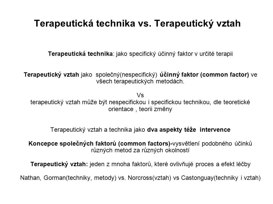 Terapeutická technika vs.
