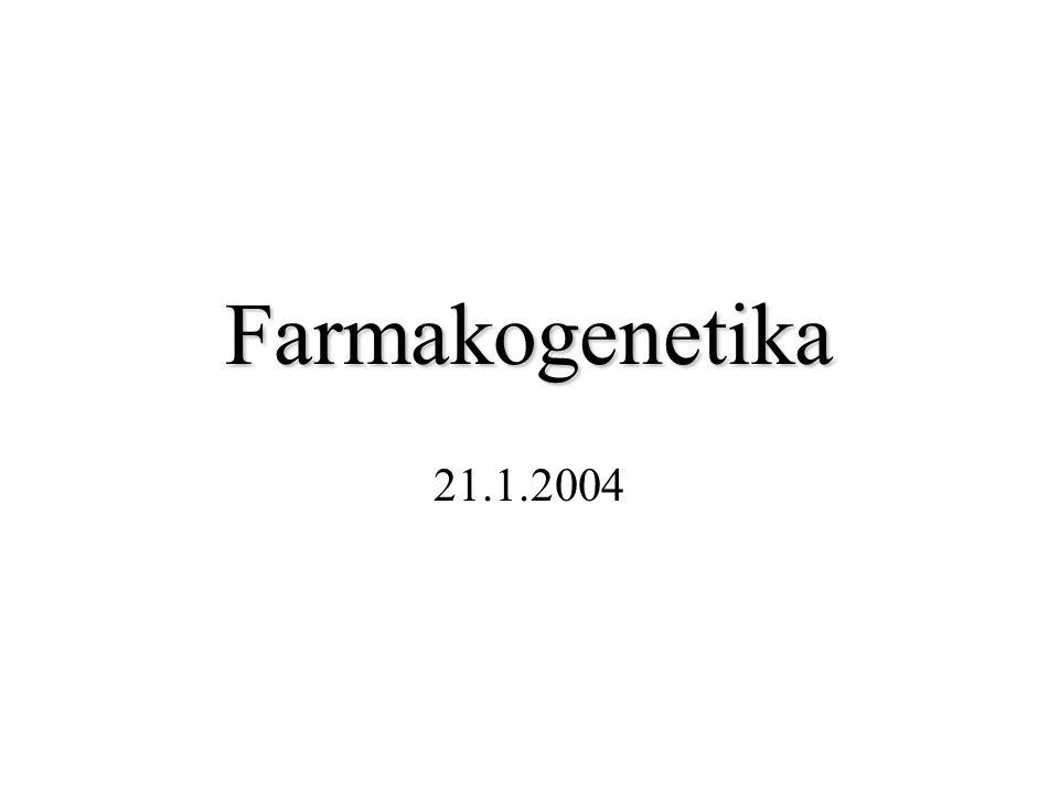 Farmakogenetika 21.1.2004