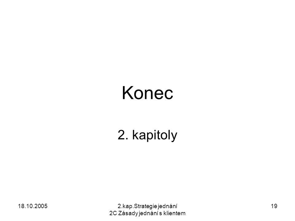 18.10.20052.kap.Strategie jednání 2C Zásady jednání s klientem 19 Konec 2. kapitoly