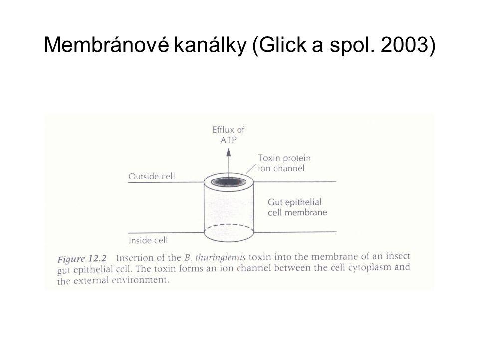 Membránové kanálky (Glick a spol. 2003)