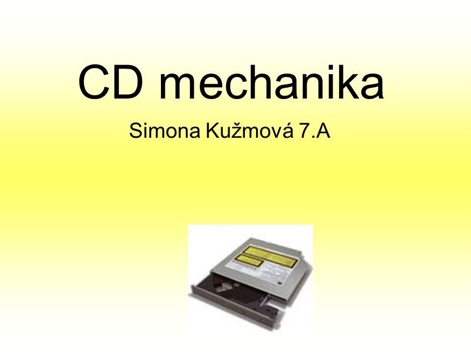 Optické mechaniky Optické mechaniky používají k záznamu a ke čtení z média laserový paprsek.