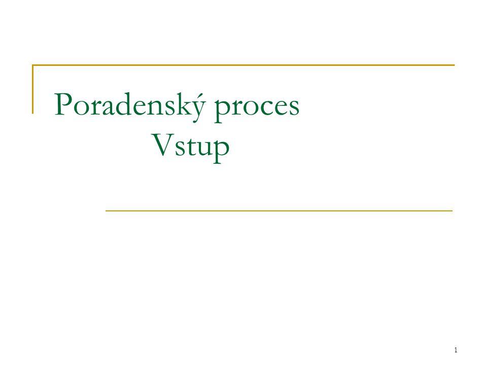 1 Poradenský proces Vstup