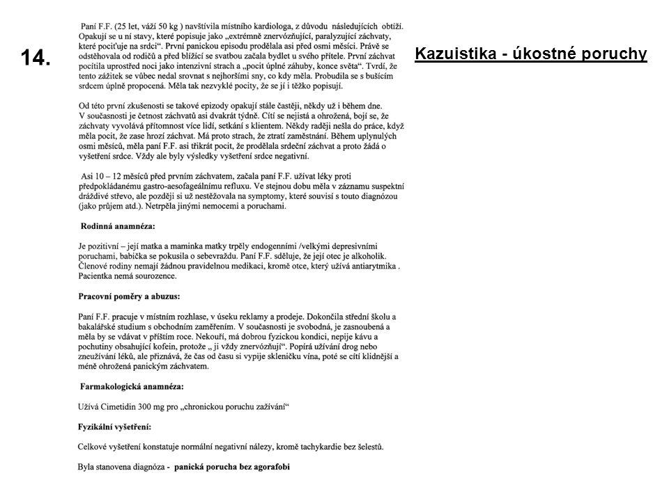14. Kazuistika - úkostné poruchy