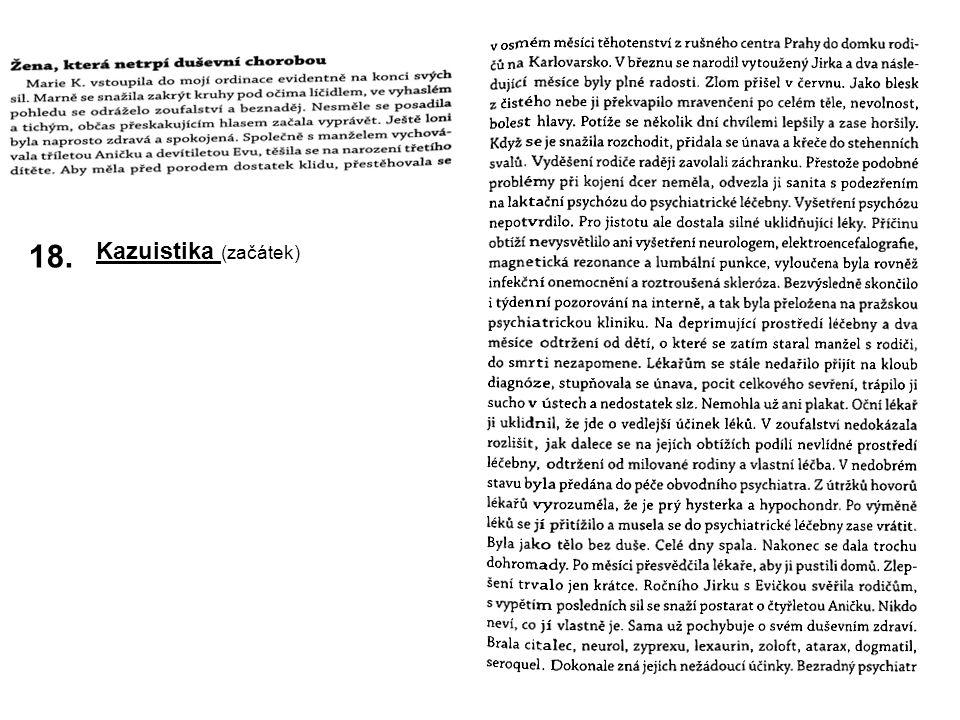 18. Kazuistika (začátek)