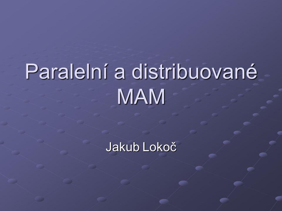 Osnova Úvod do problematiky Paralelní MAM M-Tree M-Tree Distribuované MAM GHT* GHT* VPT* VPT* MCAN MCAN M-Chord M-Chord