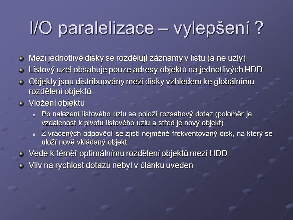 I/O paralelizace – vylepšení .