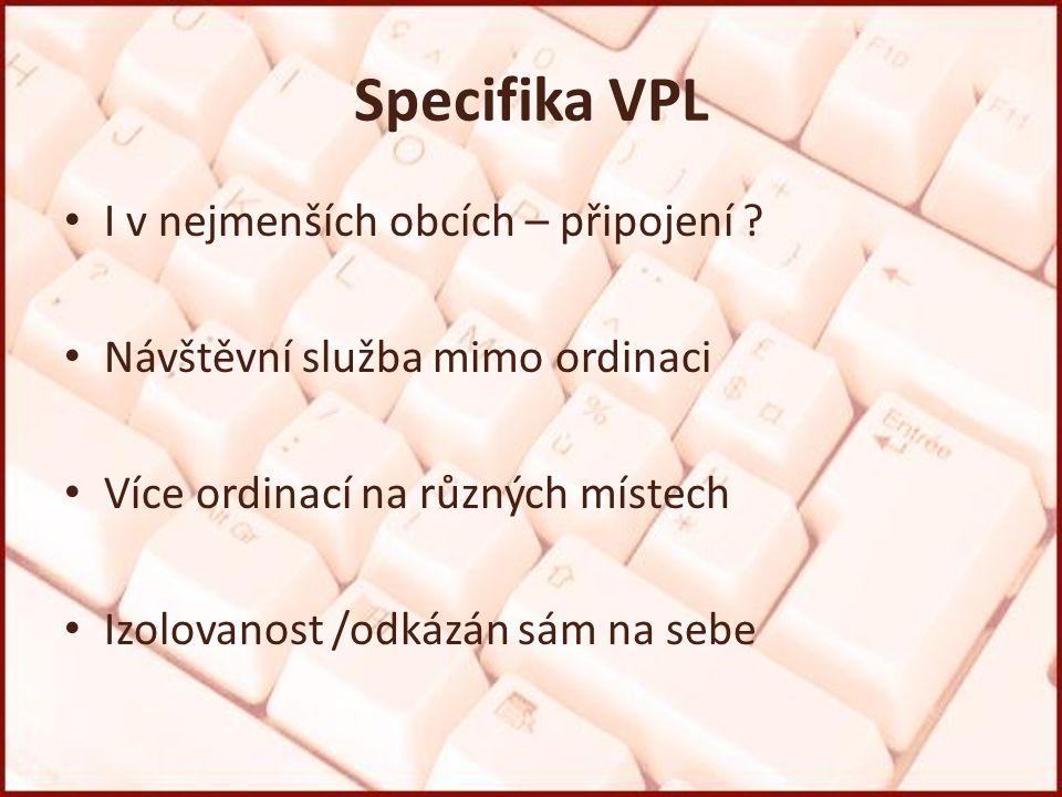 Specifika VPL I v nejmenších obcích – připojení .