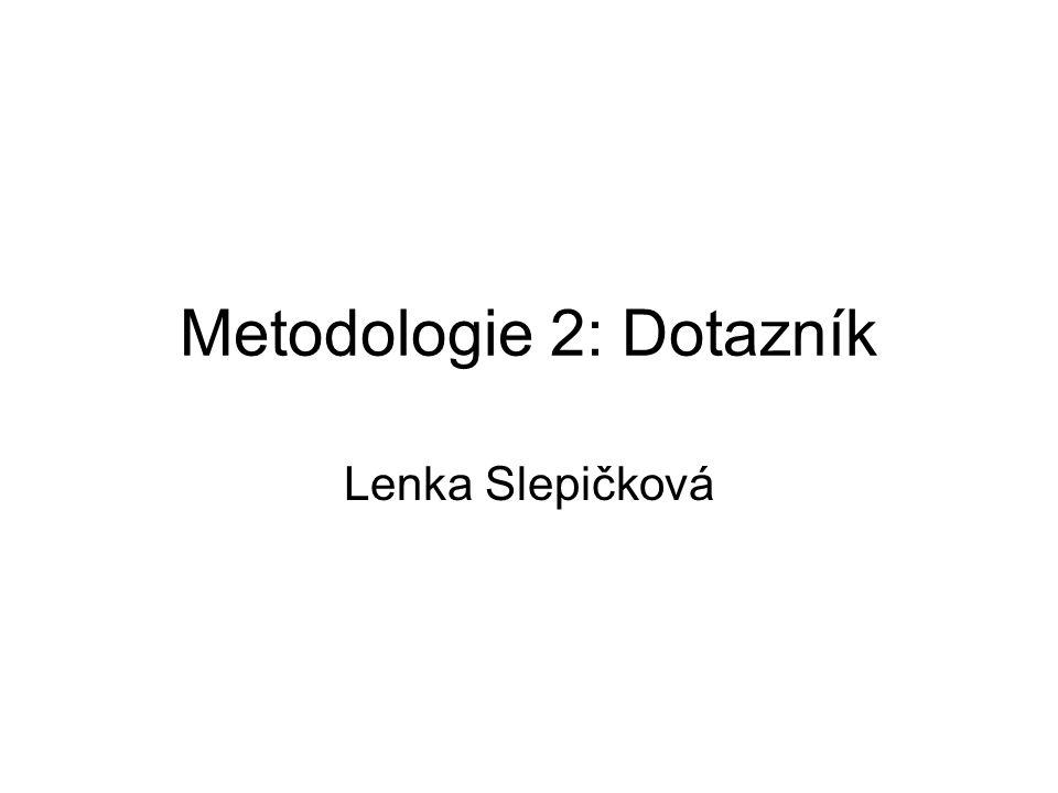 Metodologie 2: Dotazník Lenka Slepičková