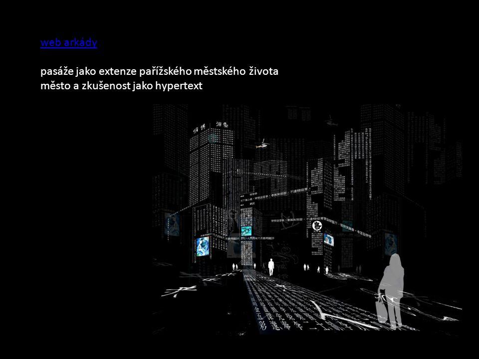 web arkády pasáže jako extenze pařížského městského života město a zkušenost jako hypertext